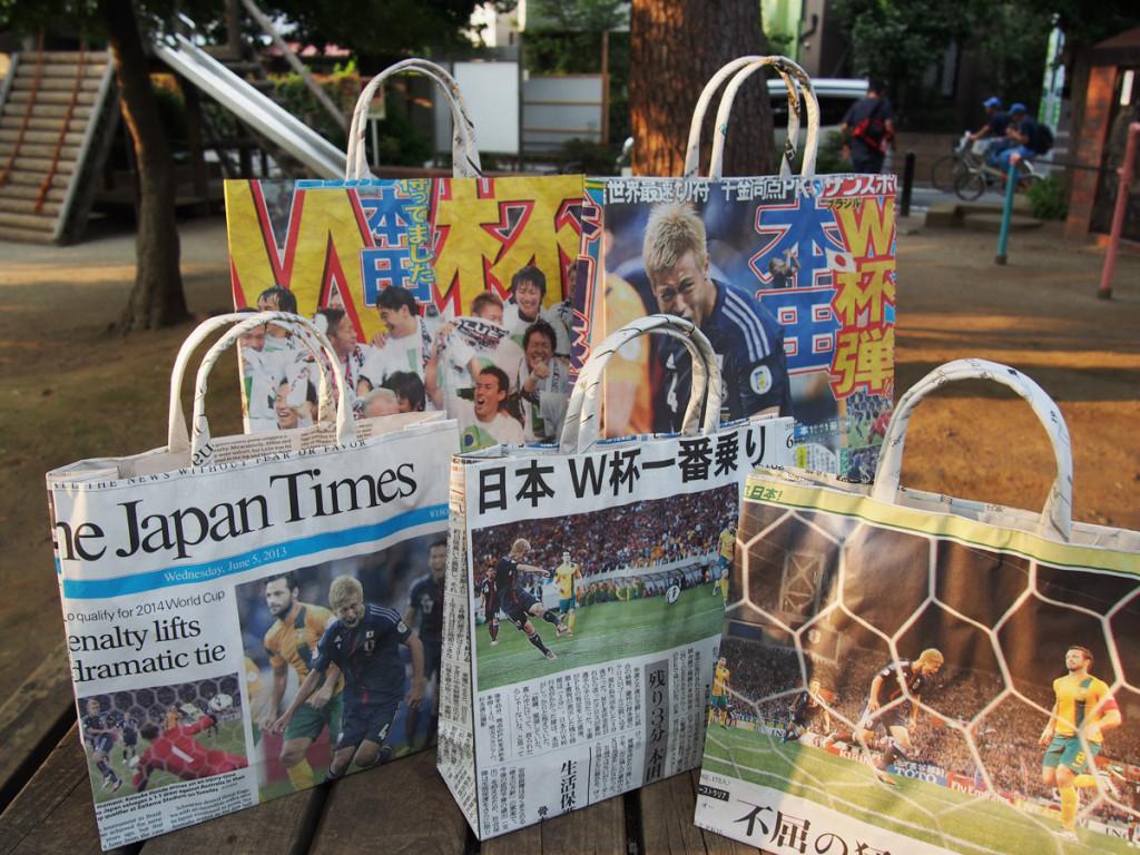 サッカー新聞バッグいろいろ